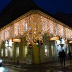 Weihnachtsdekoration Fassade