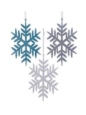 Schneeflocke Baumanhänger mit Glitter